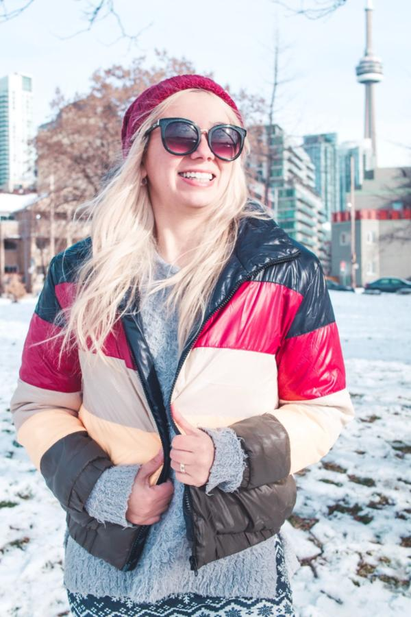 Winter is for Fun ColorBlock Puffer Jacket