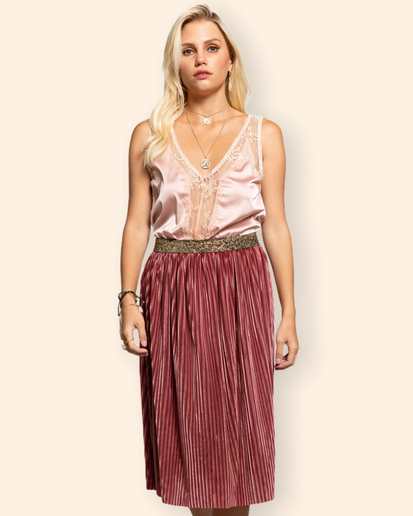Glamour Pop Skirt in Brown
