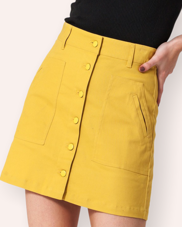 Pop me up! | Cotton Mini Skirt