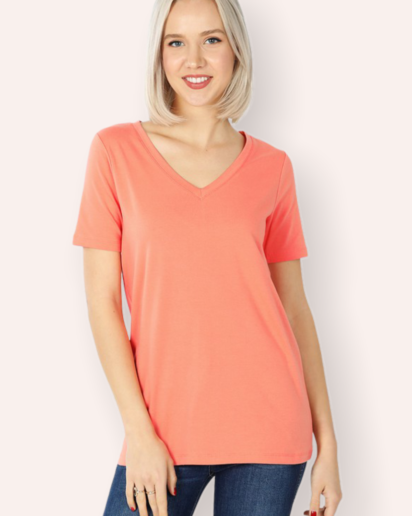 Yet Another Basic Tee Coral